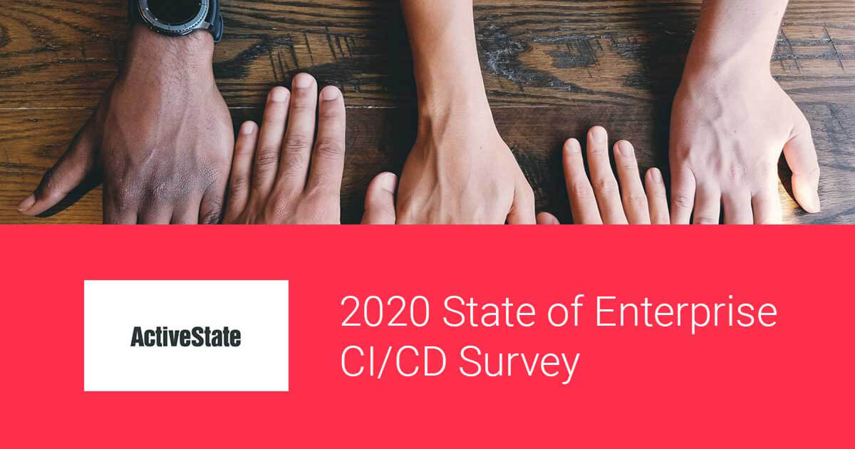 activestate CI CD survey 2020